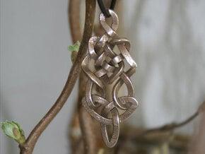 Pendant trefoil in Polished Bronzed Silver Steel