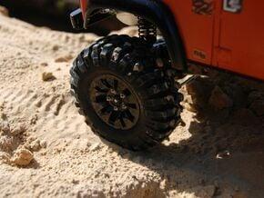 sawtooth beatlock wheels 2.0, part 1/3 front in White Natural Versatile Plastic