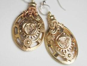 Botanika Mechanicum Earrings in Natural Brass