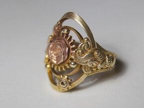 Botanika Mechanicum Ring SIZE 10 in Natural Brass