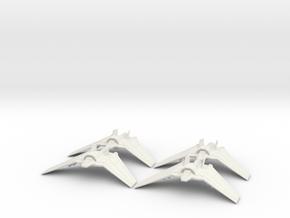 Tauri F-302 Squadron: 1/270 scale in White Natural Versatile Plastic
