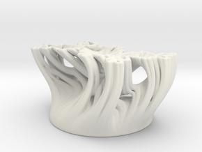 Partial Julia sweep in White Natural Versatile Plastic: Medium