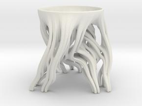 Tripod Julia bowl in White Natural Versatile Plastic: Medium
