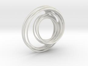 Unit Circle Julia Sets (90°) in White Natural Versatile Plastic