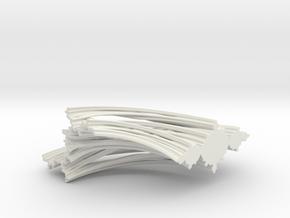 Quarter Unit Circle Julia Sets (0°, filled) in White Natural Versatile Plastic