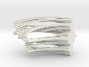 Quarter Unit Circle Julia Sets (90°, filled) in White Natural Versatile Plastic