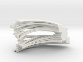 Quarter Unit Circle Julia Sets (45°, filled) in White Natural Versatile Plastic