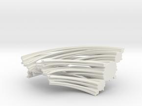 Quarter Unit Circle Julia Sets (135°, filled) in White Natural Versatile Plastic