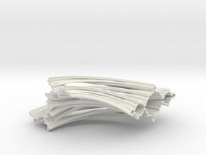 Quarter Unit Circle Julia Sets (0°) in White Natural Versatile Plastic