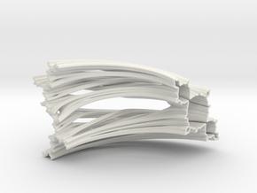 Quarter Unit Circle Julia Sets (45°) in White Natural Versatile Plastic