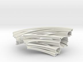 Quarter Unit Circle Julia Sets (135°) in White Natural Versatile Plastic