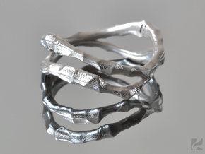 Dual Voronoi Ring in Polished Silver: 6.5 / 52.75