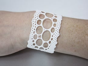 lace cuff in White Processed Versatile Plastic