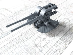 """1/144 Tribal Class 4.7"""" MKXII CPXIX Gun Only in Smooth Fine Detail Plastic"""