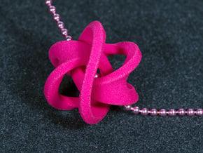 Soliton Pendant in Pink Processed Versatile Plastic: Large
