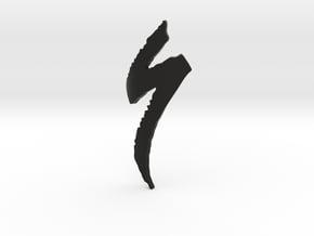 Logo Specialized - height 90mm - diameter 52mm in Black Natural Versatile Plastic