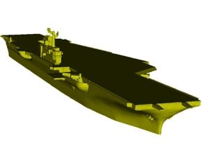 1/1800 scale USS Coral Sea CV-43 aircraft carrier in Smooth Fine Detail Plastic