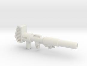 G1 Optimus Prime's Ion Blaster in White Natural Versatile Plastic