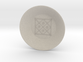 Seal of Mercury Charging Bowl (large) in Natural Sandstone