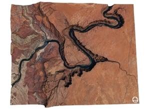 Horseshoe Bend Map, Arizona in Full Color Sandstone