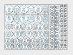 Kings Fists - Flat Vehicle Insignia pack in Smooth Fine Detail Plastic