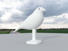 Canary Bird in White Natural Versatile Plastic