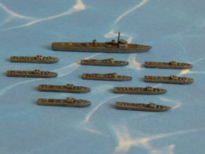 "German Minesweepers ""Räumboote"" w. Tender 1/1800 in Smooth Fine Detail Plastic"