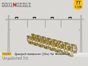32x Isolatoren für Querjoche (TT 1:120) in Smooth Fine Detail Plastic
