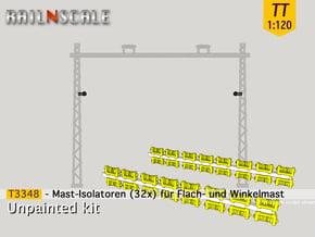 32x Isolatoren für Masten (TT 1:120) in Smooth Fine Detail Plastic