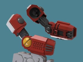 Enclave Arms T1 (poseable), 1/2/3/6/9 pairs in Smooth Fine Detail Plastic: Extra Small