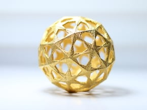 Star Sphere in Polished Gold Steel