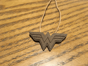 Wonder Women - Pendant & Necklace in Polished Bronzed Silver Steel