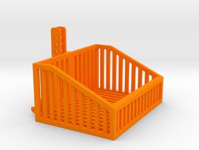 1:32 Frontbox mit Gitter in Orange Processed Versatile Plastic: 1:32