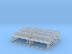 Bench type D - H0 ( 1:87 scale ) 8 Pcs set in Smoothest Fine Detail Plastic