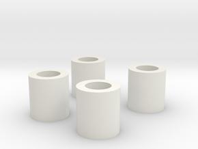 GEAR Spacers in White Natural Versatile Plastic