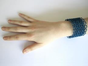 Stitch Bracelet - M in Blue Processed Versatile Plastic