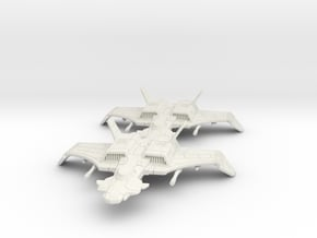 F-44a Rapier Flight: 1/270 scale in White Natural Versatile Plastic