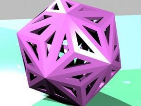 Triakisicosahedron in White Natural Versatile Plastic