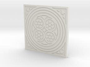 1:9 Scale Square Circles Manhole Cover in White Natural Versatile Plastic