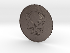 New Invented Coin Value 1 in Polished Bronzed Silver Steel