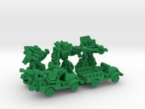 """Slipgear Squad, """"Sarge"""", """"Eggsy"""" and """"Deadeye"""" Min in Green Processed Versatile Plastic"""