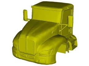 1/87 scale Kenworth T370 truck cabin x 1 in Smooth Fine Detail Plastic