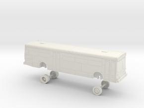 HO Scale Bus New Flyer C40 LACMTA 5000s in White Natural Versatile Plastic