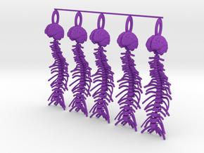 Brain and Spine...necklace pendant! in Purple Processed Versatile Plastic
