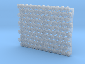 3203 - 1/32 padeyes w/closed bottom, 120 pcs. in Smooth Fine Detail Plastic