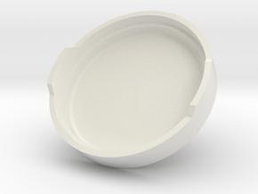 The Fog Light Cover(20mm) in White Natural Versatile Plastic