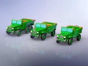 Laffly V15T V15R W15T Trucks 1/144 in Smooth Fine Detail Plastic