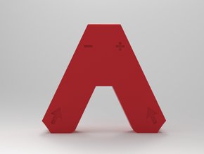 Arrow Joycon Grip Mini Edition in Red Processed Versatile Plastic