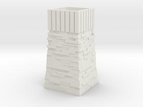 OO9 Skarloey / Talyllyn Water Tower Type 2 in White Natural Versatile Plastic