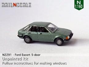 Ford Escort 5-door (N 1:160) in Smooth Fine Detail Plastic